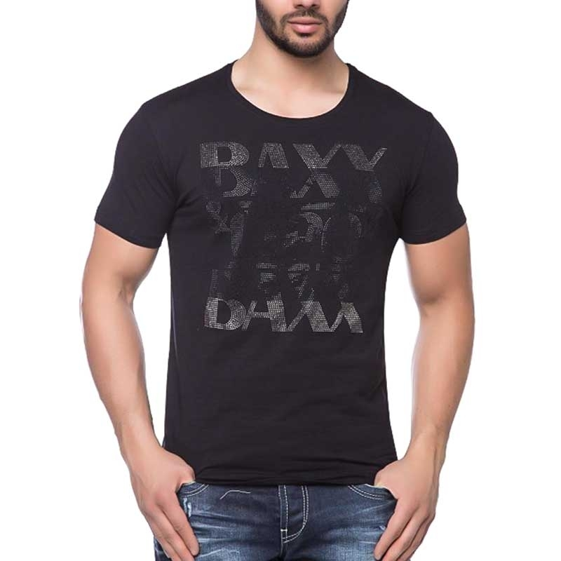 CIPO and BAXX T-SHIRT shiny BRAND slim Fit CT121 bodystyle black