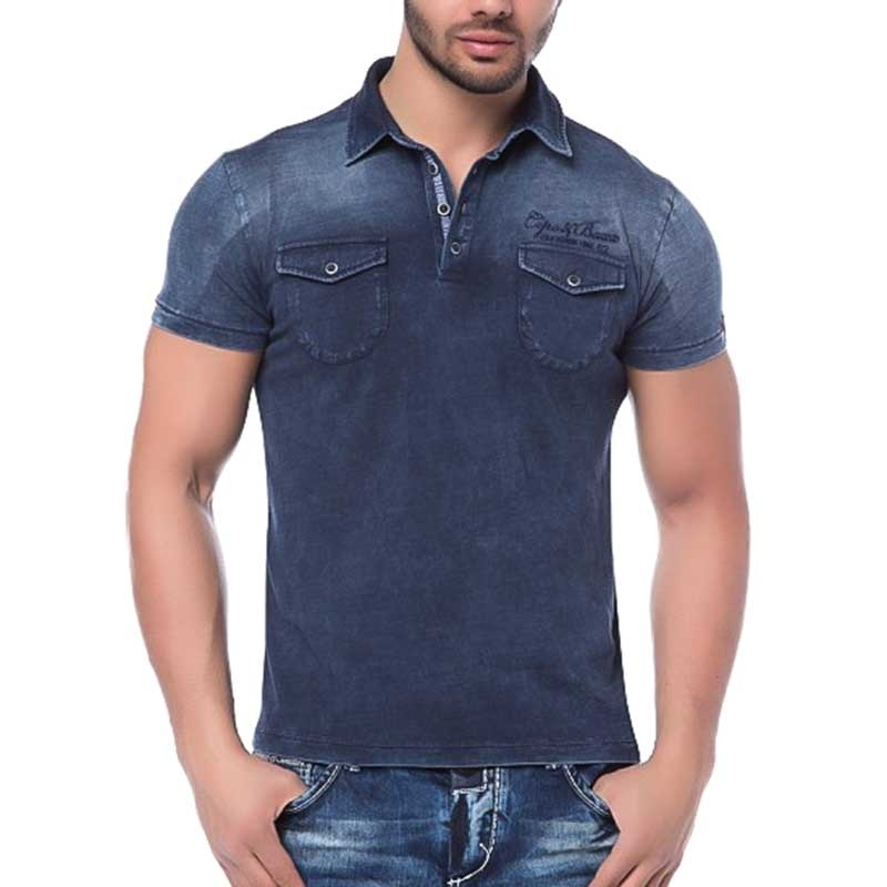 CIPO and BAXX PoloSHIRT blue JEANS slim Fit CT147 No.62 blue