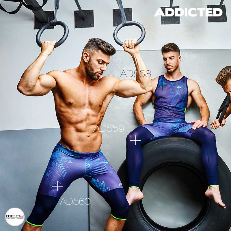 Functional clothing for the man Your fitness and gym training is perfectly planned in the AD560