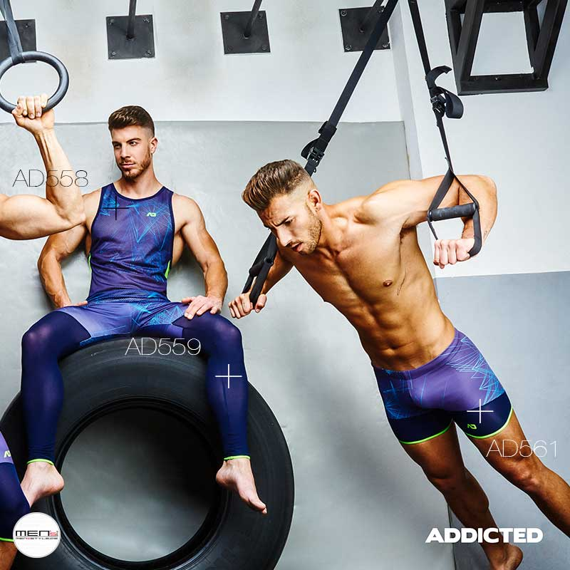 Power training in shortpants with anti-sweat training kit with AD559