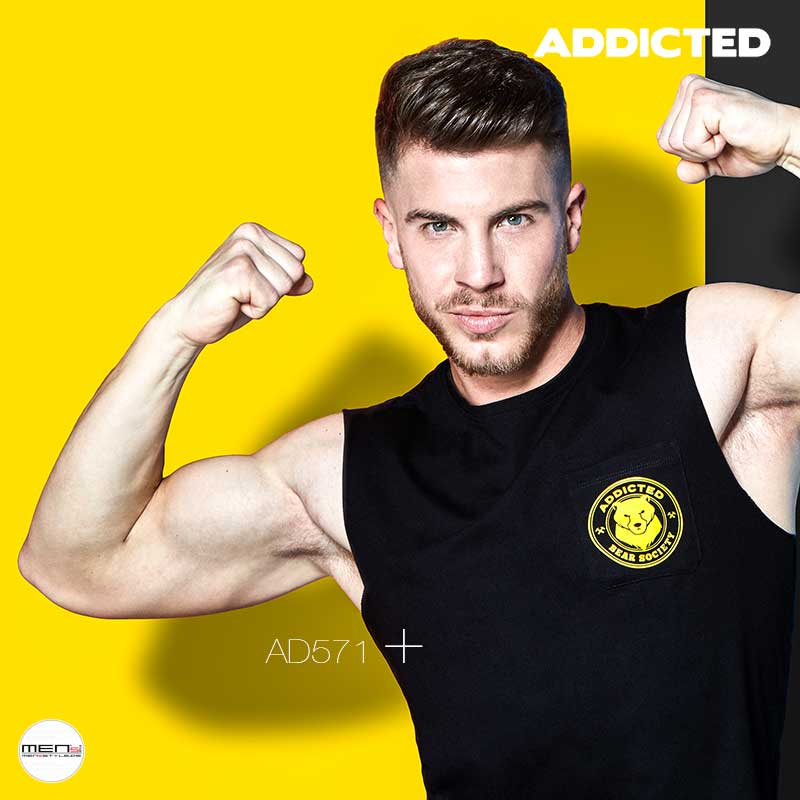 Addicted fashion men tanks AD571