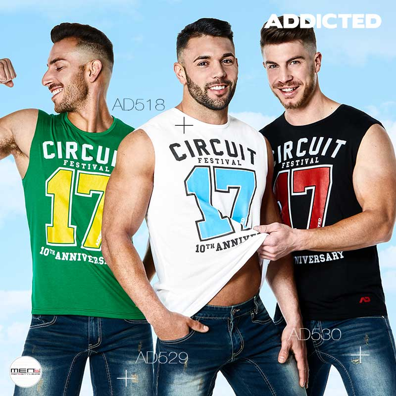 Festivals like every year the CIRCUIT 2017 again has a must for our gay party scene, here the cool tops as a Tantop for the Boys AD518