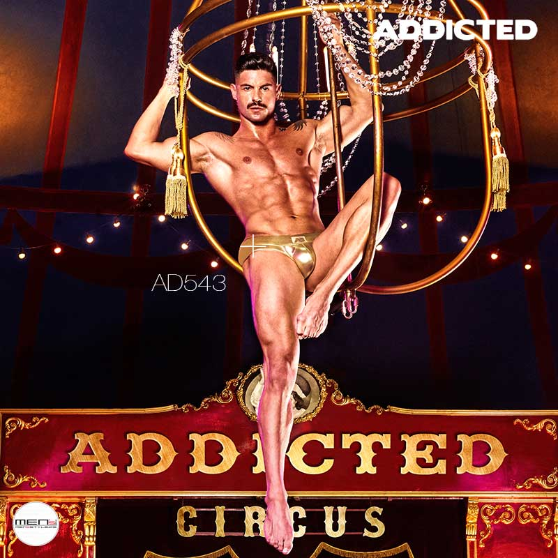 addicted Mode CIRCUS am Trapez hängen in goldener Pants AD543