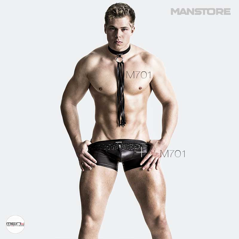 Manstore M701 Series as a fetish underwear for the swingers club or the fetish kinky party, men's underwear in lacquer leather dress