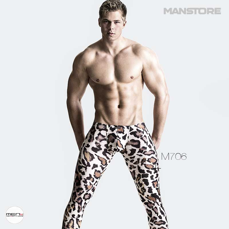 Manstore LEOPARD M706 Men's legging in the predator's look. Eng, sexy wild and rare the pants for the man. Wild animal pattern or predator fur print a special eye-candy.