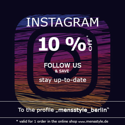Follow Mensstyle_Berlin on Instagram and use the 10% coupon to become a wet look fashion trendsetter.