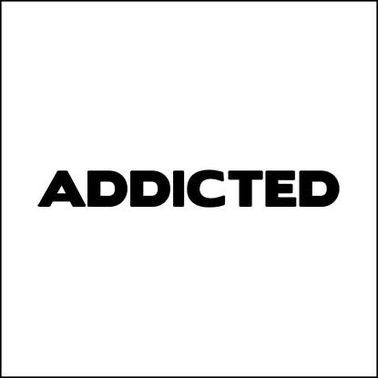 Addicted logo Mens fashion brand the current styles